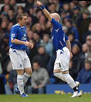 Photo: Paul Greenwood.<br />Everton v Blackburn Rovers. The Barclays Premiership. 10/02/2007. Everton's Andy Johnson celebrates his goal