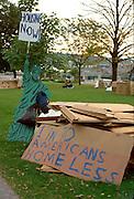 Homeless demonstration downtown; a call to action.  St Paul Minnesota USA