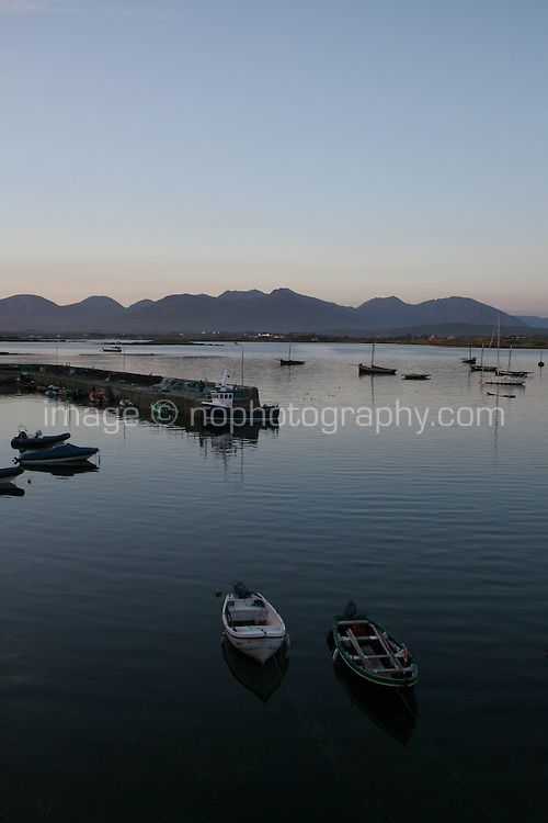 Sunset at Roundstone Connemara landscape County Galway Ireland