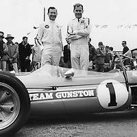 #1 Repco Brabham 3-litre with drivers Sam Tingle and John Love, first race for Team Gunston - won by John Love, Rhodesian Grand Prix, Kumalo 3rd December 1967