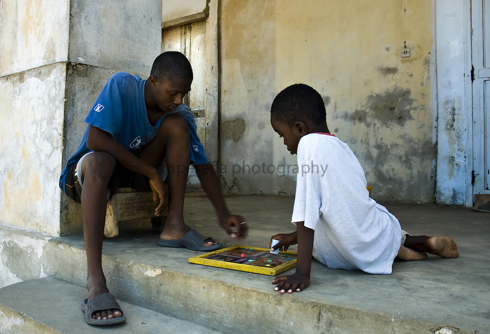 GOREÉ ISLAND (Senegal). 2007. Children playing in the streets of Goree