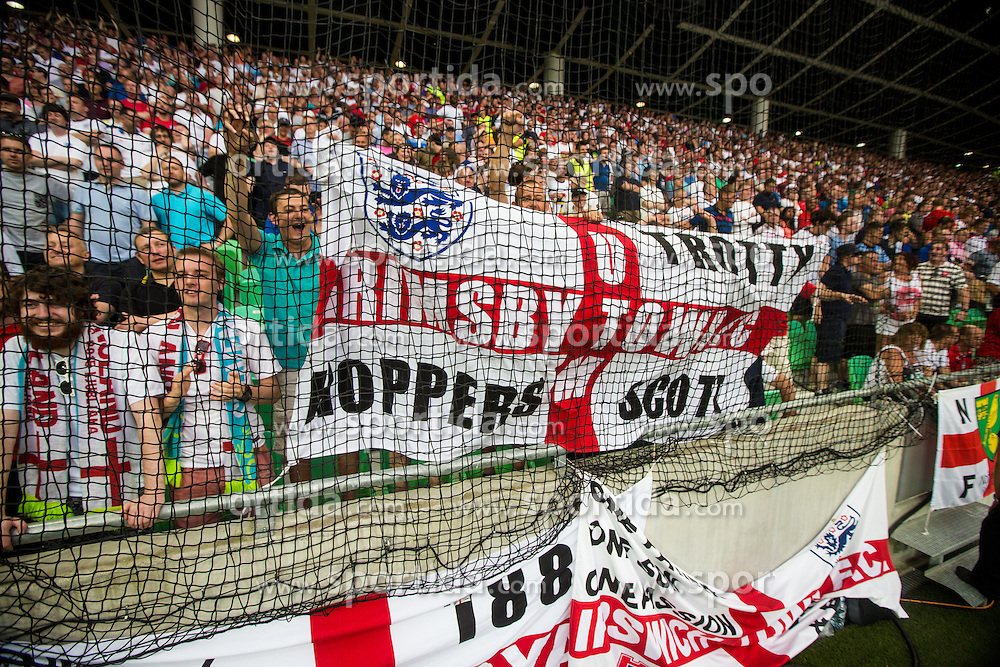 England fans during the EURO 2016 Qualifier Group E match between Slovenia and England at SRC Stozice on June 14, 2015 in Ljubljana, Slovenia. Photo by Grega Valancic