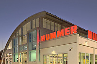 Germantown, MD Hummer Dealership at Night by architectural photographer Jeffrey Sauers of Commercial Photographics