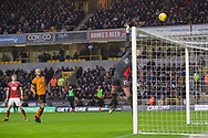 John Ruddy of Wolverhampton Wanderers tips over the bar during the EFL Sky Bet Championship match between Wolverhampton Wanderers and Nottingham Forest at Molineux, Wolverhampton, England on 20 January 2018. Photo by Darren Musgrove.