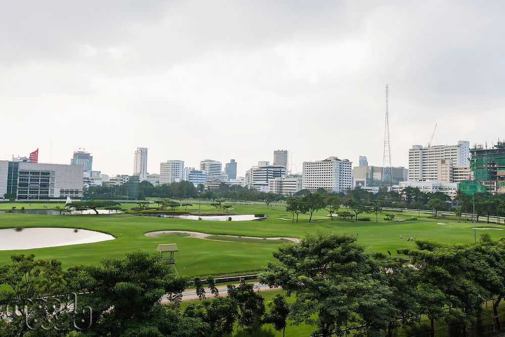 The 18 hole golf course at Royal Bangkok Sports Club in the middle of Bangkok City; Thailand