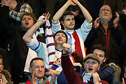 Crystal Palace fans celebrate at full time as they beat Doncaster Rovers 0-2 and move into the next round during the The FA Cup 5th round match between Doncaster Rovers and Crystal Palace at the Keepmoat Stadium, Doncaster, England on 17 February 2019.
