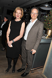 JULIA PEYTON-JONES and HANS ULRICH OBRIST at a dinner to celebrate the opening of the Serpentine's Gallery new exhibition of work by Jonas Mekas held at Cassis, 232-236 Brompton Road, London SW3, London on 3rd December 2012.