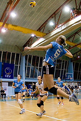 Petra Kramolc during volleyball match between Calcit Volleyball and A. Linz-Steg in Mevza league on October 23, 2010 at Sport Halli, Kamnik, Slovenia. (Photo By Matic Klansek Velej / Sportida.com)