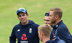 England's Alastair Cook during a nets session at Headingley, Leeds.