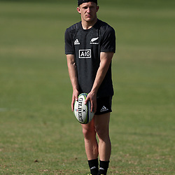 PRETORIA, SOUTH AFRICA - OCTOBER 05: Damian McKenzie during the Rugby Championship New Zealand All Blacks captain's run at St David's Marist Inanda 36 Rivonia Rd, Sandown, Sandton,on October 5, 2018 in Pretoria, South Africa. (Photo by Steve Haag/Getty Images)