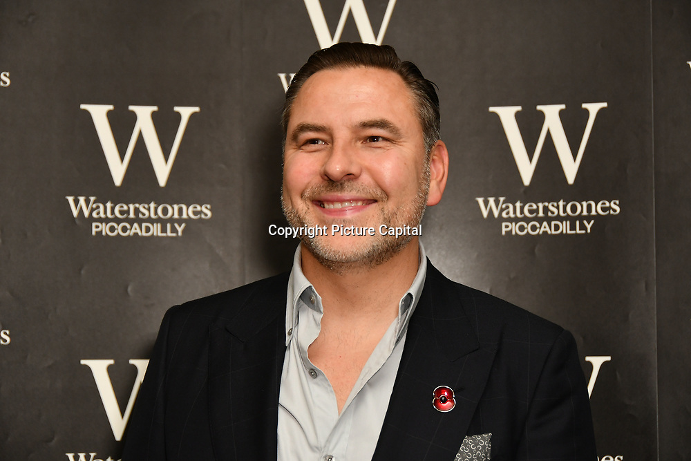 David Walliams meeting adoring fans at Waterstones Piccadilly as he signs copies of his newest novel, The Ice Monster at his sold-out on 10 November 2018, London, UK.