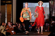 Wearing fashions from The Secret Ingredient, models Jennie Stockslager (left) and Emily Fleming on the runway during A'Wear Affair, the Noble Circle fundraising fashion show, at Sinclair College's David H. Ponitz Center, Saturday, February 23, 2013.  Stockslager has been thriving beyond ovarian cancer ten years, and cancer free since December 2010.  Fleming has been thriving beyond breast cancer while pregnant in 2009 and stage 4 liver and bone cancer in 2012.