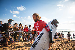 October 20, 2018 - Peniche, Portugal - Australian surfer Owen Wright after finishing the heat. (Credit Image: © Henrique Casinhas/NurPhoto via ZUMA Press)