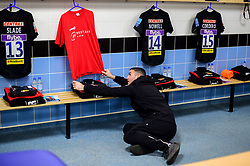 Mark Stevens of Exeter Chiefs assists in the changing room prior to kick off - Mandatory by-line: Ryan Hiscott/JMP - 14/04/2019 - RUGBY - Sandy Park - Exeter, England - Exeter Chiefs v Wasps - Gallagher Premiership Rugby