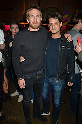 Left to right, JACOBI ANSTRUTHER-GOUGH-CALTHORPE and TAYLOR McWILLIAMS at a party to celebrate the launch of fashion retailer WeKoko.com held at Sketch, 9 Conduit Street, London on 13th April 2016.