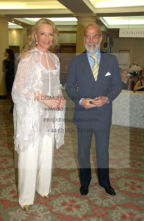 TRH PRINCE & PRINCESS MICHAEL OF KENT at a private view of the forthcoming sale 'Property from the collection of HRH The Princess Margaret, Countess of Snowdon' and a private view of art by Marina Karella Princess Michael of Greece, held at Christie's, 8 King Street, London SW1 on 12th June 2006.<br />