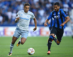 September 14, 2017 - Reggio Emilia, Italy - Dominic Calvert-Lewin of Everton and Jose Luis Palomino of Atalanta  during the UEFA Europa League Group E football match Atalanta vs Everton at The Stadio Città del Tricolore in Reggio Emilia on September 14, 2017. (Credit Image: © Matteo Ciambelli/NurPhoto via ZUMA Press)