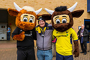Oxford United fans pose with the Oxford Mascot during the EFL Sky Bet League 1 match between Oxford United and Plymouth Argyle at the Kassam Stadium, Oxford, England on 17 February 2018. Picture by Jason Brown.