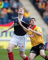 Falkirk's Darren Dods and Partick Thistle's Kris Doolan..Falkirk 0 v 2 Partick Thistle, 20/4/2013..© Michael Schofield.