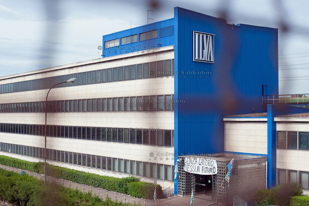 Taranto, 25/09/2012: Acciaieria ILVA - ILVA steel factory.<br /> &copy;Andrea Sabbadini