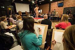 Life drawing class, community run, Tottenham, London