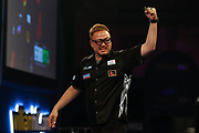 WINNER Seigo Asada celebrating during the Darts World Championship 2018 at Alexandra Palace, London, United Kingdom on 18 December 2018.