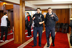 © Licensed to London News Pictures. 05/02/2017. London, UK. Police officers visiting Finsbury Park Mosque during an open day in North London. On Visit My Mosque Day over 150 mosques around the UK open their doors to the public, offering a better understanding of religion in effort to counter rising Islamophobia.  Photo credit: Tolga Akmen/LNP