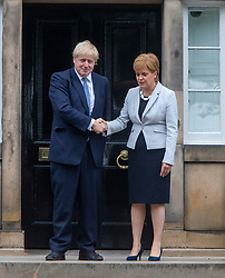 First Minister Nicola Sturgeon meets Boris Johnson at Bute House.