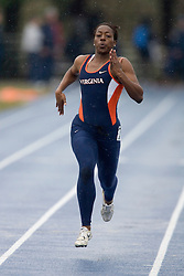 Virginia Cavaliers Talia Wise finishes fourth in the women's 200m dash.  The Virginia Cavaliers Track and Field team hosted the 2007 Lou Onesty/Milton G. Abramson Invitation at Lannigan Field at the University of Virginia on April 14, 2007.
