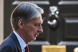 Downing Street, London, July 30th 2014. Foreign Secretary Philip Hammond arrives at Downing Street to chair a COBRA committee meeting to discuss the threat of the Ebola Virus outbreak.