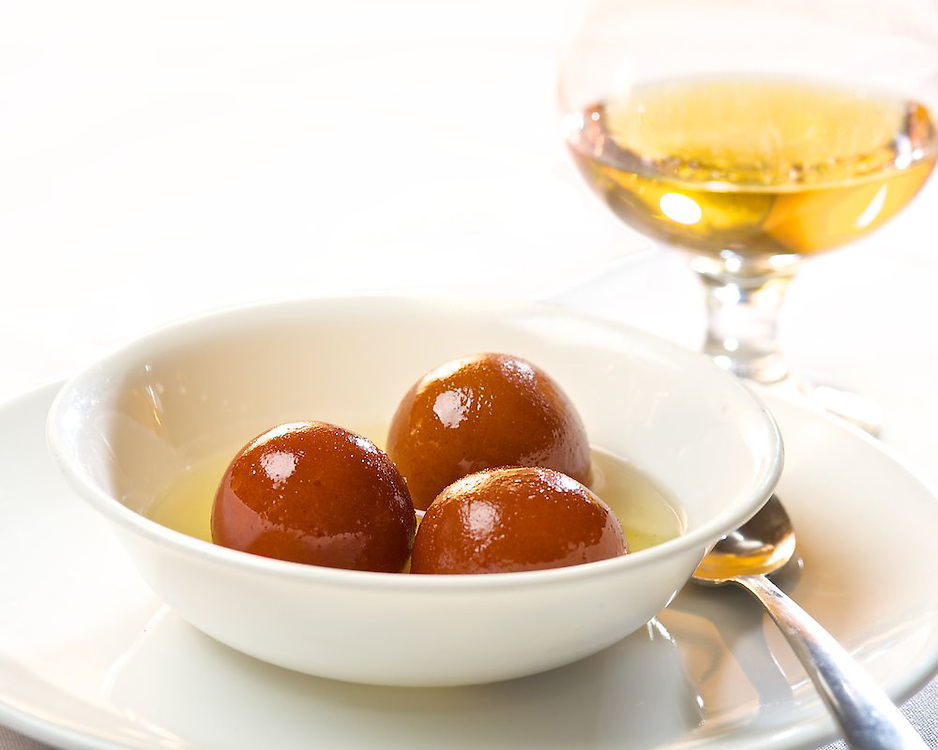 Gulab Jamun - a sweet Indian dessert made from wheat flour.