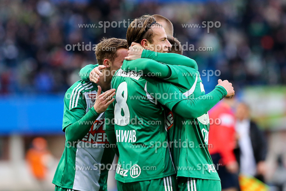 04.04.2015, Ernst Happel Stadion, Wien, AUT, 1. FBL, SK Rapid Wien vs RZ Pellets WAC, 27. Runde, im Bild Stefan Schwab (SK Rapid Wien) und Dominik Starkl (SK Rapid Wien) // during Austrian Football Bundesliga Match, 27th Round, between SK Rapid Vienna and RZ Pellets WAC at the Ernst Happel Stadion, Wien, Austria on 2015/04/04. EXPA Pictures © 2015, PhotoCredit: EXPA/ Alexander Forst