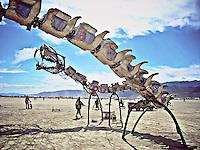 Lotus Girls art work from Burning Man Festival.