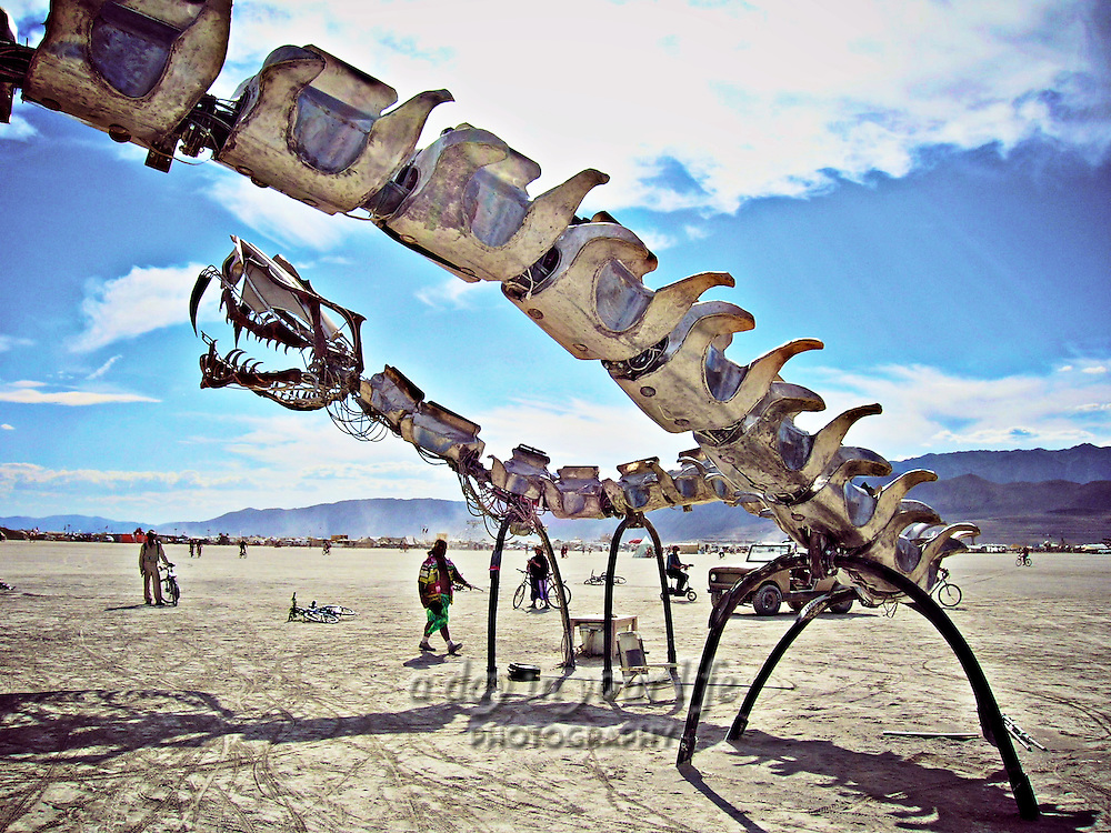 Lotus Girls art work from Burning Man Festival.