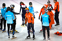 GANGNEUNG , 06-02-2018 , training shorttrackers op de trainingsbaan , Yeongdang Short Track Training Venue  , Sjinkie Knegt (m)<br /> <br /> foto: Henk Jan Dijks
