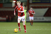 Crewe's Charlie Kirk during the EFL Sky Bet League 2 match between Crewe Alexandra and Exeter City at Alexandra Stadium, Crewe, England on 20 February 2018. Picture by Graham Holt.