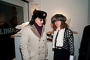CHRIS SALEWICZ; JANE ASHLEY, The Way We Wore.- Photographs of parties in the 70's by Nick Ashley. Sladmore Contemporary. Bruton Place. London. 13 January 2010. *** Local Caption *** -DO NOT ARCHIVE-© Copyright Photograph by Dafydd Jones. 248 Clapham Rd. London SW9 0PZ. Tel 0207 820 0771. www.dafjones.com.<br /> CHRIS SALEWICZ; JANE ASHLEY, The Way We Wore.- Photographs of parties in the 70's by Nick Ashley. Sladmore Contemporary. Bruton Place. London. 13 January 2010.