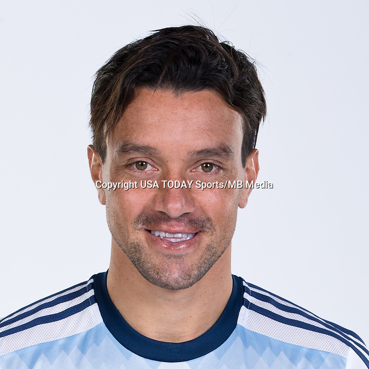 Feb 25, 2016; USA; Vancouver Whitecaps player Christian Bolanos poses for a photo. Mandatory Credit: USA TODAY Sports