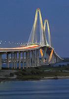 Ravenel Bridge sunset #3 from Charleston