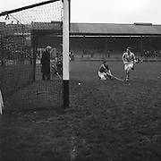 Cork goalie fails to save the slitor during The National Hurling League, Cork v Dublin in Croke park on the 15th November 1953.
