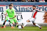 06-03-2016 VOETBAL:WILLEM II-AJAX:TILBURG <br /> Lasse Schone van Ajax in duel met  Rochdi Achenteh van Willem II  <br /> <br /> Foto: Geert van Erven