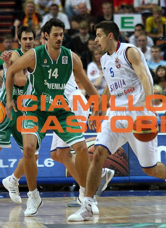 DESCRIZIONE : Katowice Poland Polonia Eurobasket Men 2009 Semifinali Semifinal Serbia Slovenia<br /> GIOCATORE : Milenko Tepic<br /> SQUADRA : Serbia<br /> EVENTO : Eurobasket Men 2009<br /> GARA : Serbia Slovenia<br /> DATA : 19/09/2009 <br /> CATEGORIA :<br /> SPORT : Pallacanestro <br /> AUTORE : Agenzia Ciamillo-Castoria/A.Vlachos<br /> Galleria : Eurobasket Men 2009 <br /> Fotonotizia : Katowice  Poland Polonia Eurobasket Men 2009 Semifinali Semifinal Serbia Slovenia<br /> Predefinita :
