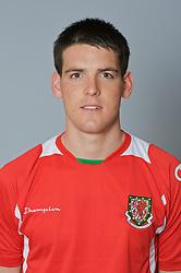 SWANSEA, WALES - Monday, March 30, 2009: Wales' Under-21 Mark Bradley. (Photo by David Rawcliffe/Propaganda)