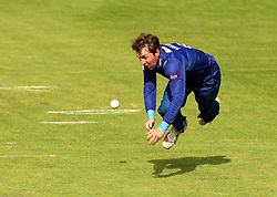 Gloucestershire's Tom Smith attempts to take a catch - Mandatory by-line: Robbie Stephenson/JMP - 07966386802 - 04/08/2015 - SPORT - CRICKET - Bristol,England - County Ground - Gloucestershire v Durham - Royal London One-Day Cup