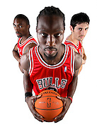 Ben Gordon, left, Ben Wallace, center, and Kirk Hinrich of the Chicago Bulls.