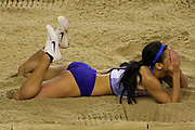 Katarina Johnson-Thompson (Great Britain), Pentathlon, Long Jump, during the European Athletics Indoor Championships 2019 at Emirates Arena, Glasgow, United Kingdom on 1 March 2019.