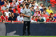Liverpool manager Jurgen Klopp during the FA Community Shield match between Manchester City and Liverpool at Wembley Stadium, London, England on 4 August 2019.