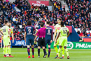 Thiago Motta (psg) received a red card during the French Championship Ligue 1 football match between Paris Saint-Germain and SCO Angers on march 14, 2018 at Parc des Princes stadium in Paris, France - Photo Pierre Charlier / ProSportsImages / DPPI