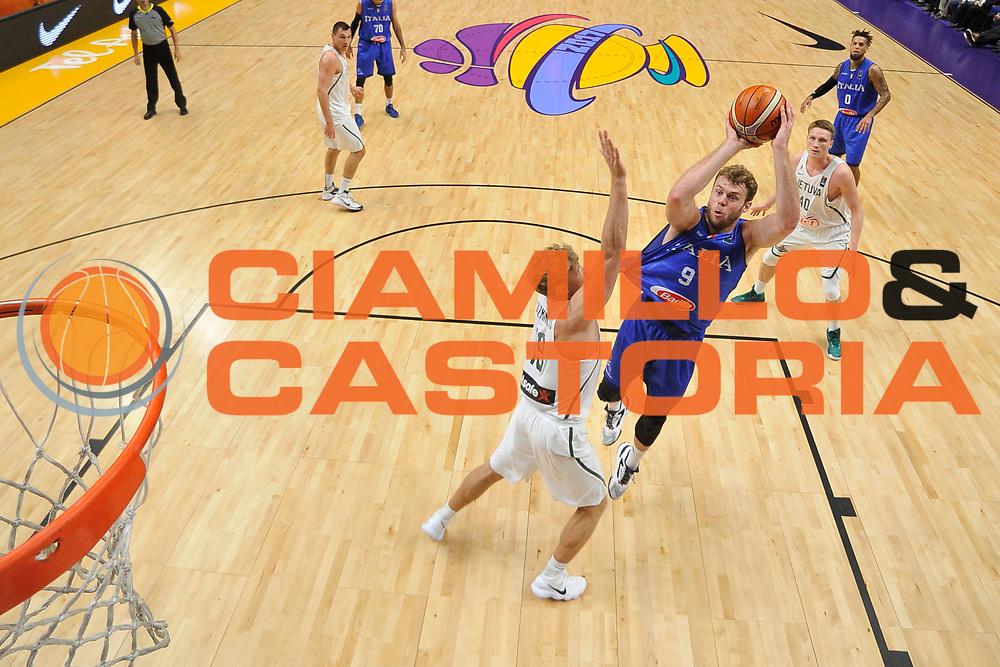 Niccolo Melli<br /> Nazionale Italiana Maschile Senior<br /> Eurobasket 2017 - Group Phase<br /> Lituania - Italia<br /> FIP 2017<br /> Tel Aviv, 03/09/2017<br /> Foto Ciamillo - Castoria/ M.Longo