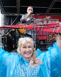 "Party at the Palace, Linlithgow, Saturday 12th August 2017<br /> <br /> Stuart ""Woody"" Wood from the Bay City Rollers performs with his new band Woody's Rollercoasters on the Break Out Stage. His performance attracted some older Rollers fans to the stage.<br /> <br /> (c) Alex Todd 